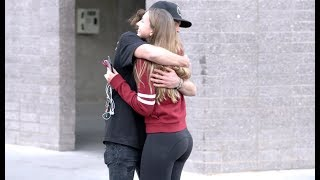 REALLY LONG HUGS PRANK!!