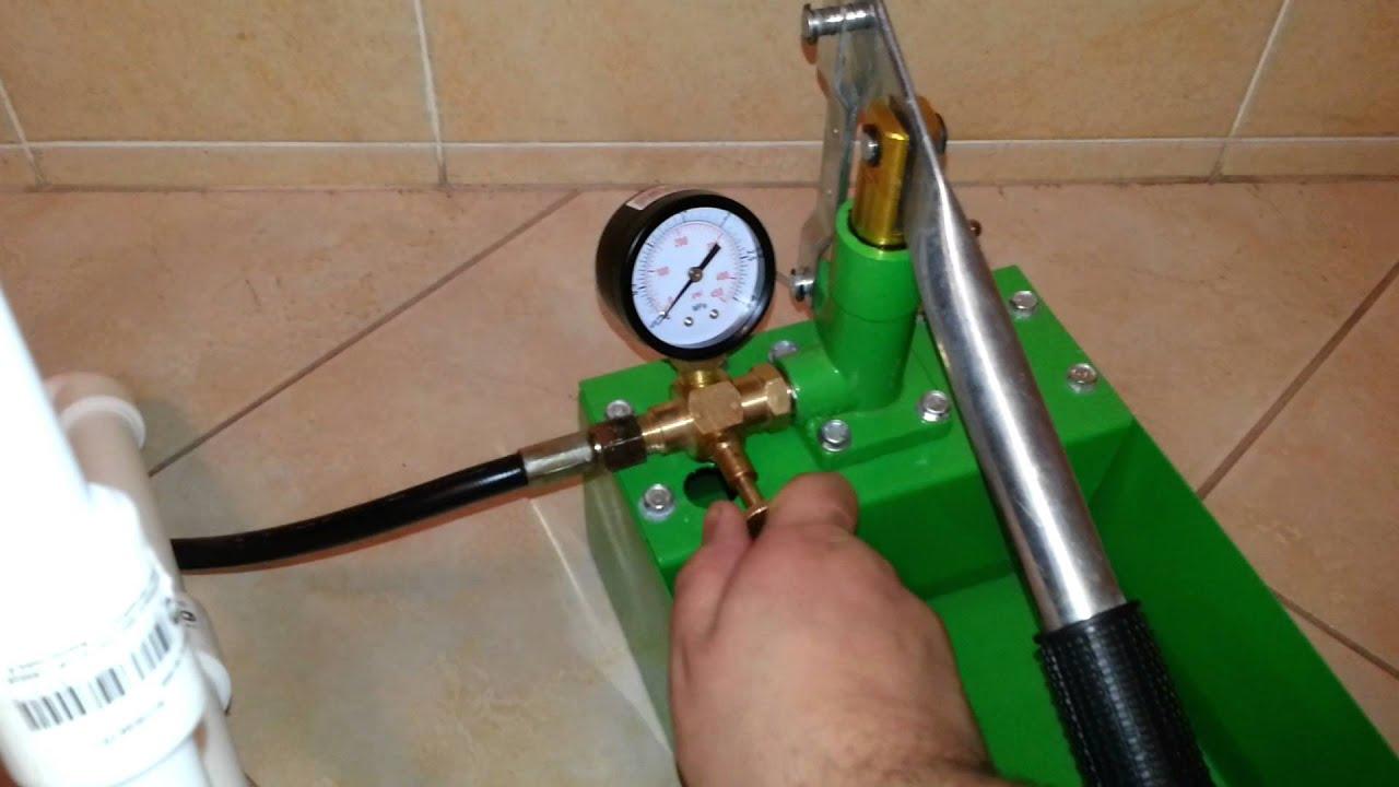 Насос для опрессовки системы отопления своими руками 39
