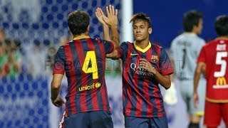 Thailand vs Barcelona  (1-7) All Goals & Highlights 07.08.2013 Neymar first Goal for Barcelona