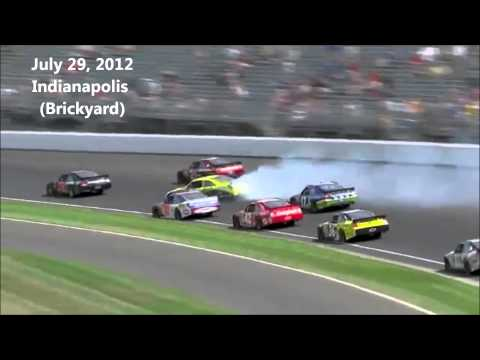 2012 NASCAR Sprint Cup Crash Compilation