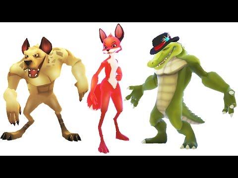 Smash Champs Game - Bear vs Gorilla vs Fox vs Jaguar vs Crocodile vs Hyena | Eftsei Gaming