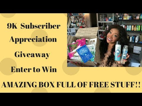 Amazing 9k Subscriber Appreciation Giveaway