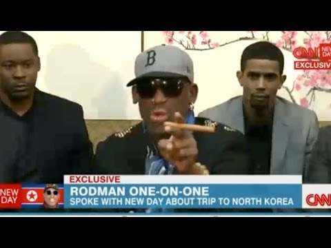 Dennis Rodman Visits North Korea, Blows Up On CNN Interview