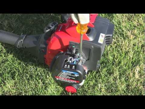 The TB32 EC gas string trimmer   How to set up your 2-cycle trimmer