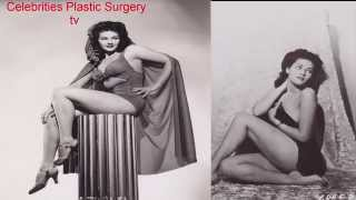 Yvonne De Carlo BEFORE AND AFTER -young and old-