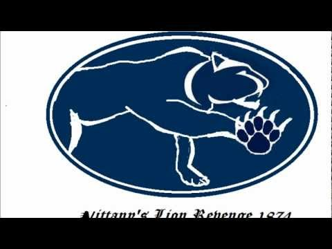 mountain cat comming  penn state colors and  Nittany lions emblems and mountian stance 1970 cougar