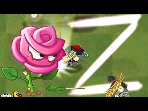 Plants Vs Zombies 2:  Rose Swordman Magic Shroom Challenge In Kung Fu World! (PVZ 2)