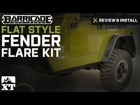 Jeep Wrangler Barricade Flat Style Fender Flare Kit (1997-2006 TJ) Review & Install