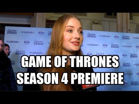 Game of Thrones Season 4 London Premiere Interviews - Sophie Turner, Rose Leslie, Liam Cunningham