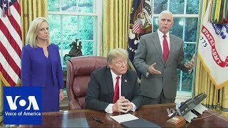 Trump Signs Order to End Migrant Family Separation on US Border