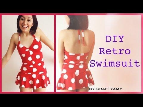 DIY Retro PinUp Swimsuit - YouTube