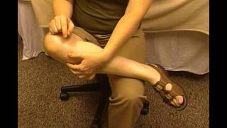 Self Massage of the Calf - for Shin Splints and Plantar Fasciitis by MassageByHeather.com