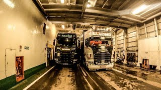 POV REVERSING SCANIA S520 + SEMI-TRAILER ONTO A FERRY!