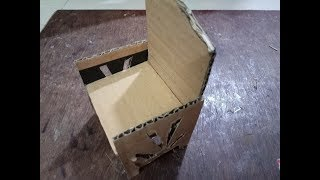 DIY: How to make chair using cardboard for kids - miniature craft