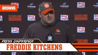 Freddie Kitchens Postgame Press Conference vs. Bengals | Cleveland Browns