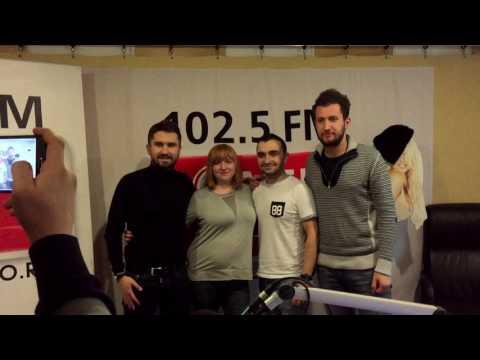В студии Comedy Radio. Шоу Счастливые люди. Николай Сердотецкий, Михаил Фишер и Иван Багзин.