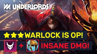 ★★★ NEW Warlock Demon Build! +999 ATK Insane DMG! | Dota Underlords