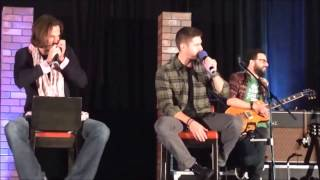 Jared Padalecki & Jensen Ackles doing beatbox at ChiCon 2014