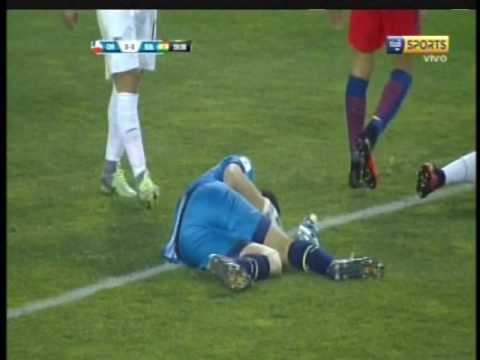 La incre�ble participaci�n de Carlos Lampe en el partido contra Chile