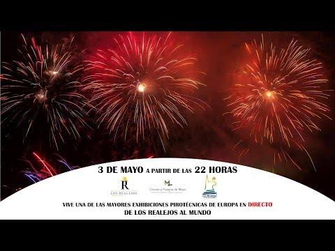Exhibición pirotécnica Cruces y Fuegos de Mayo de Los Realejos