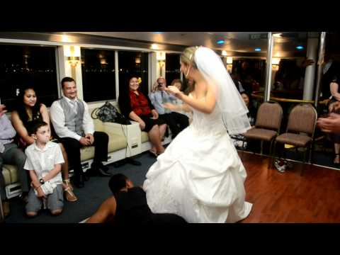 Performing a Samoan Siva at her Wedding