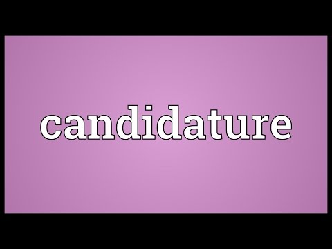 Header of candidature