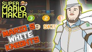 WHITE KNIGHTS OF MARIO MAKER! - Super Mario Maker - Super Expert with Oshikorosu