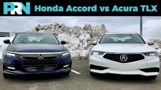 Honda Accord vs Acura TLX | TestDrive Showdown