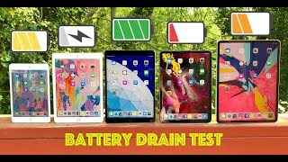 "iPad Battery Drain Test / iPad Pro 12.9"" & 11"" vs 2019 iPad Air vs 9.7"" iPad vs iPad Mini 5"