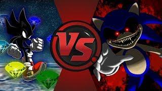 Dark Sonic vs Sonic.EXE! (Sonic X vs CreepyPasta) Cartoon Fight Night!