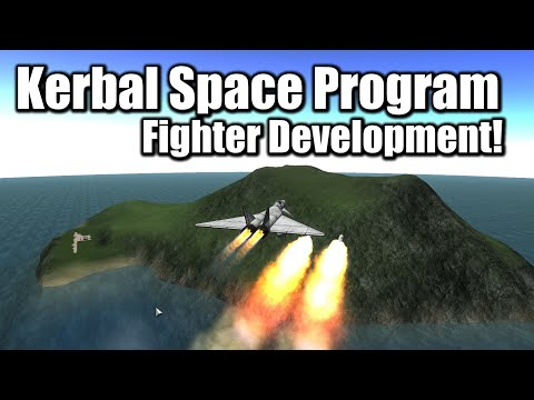 Kerbal Space Program - Fighter Launches Missiles! (Stock)