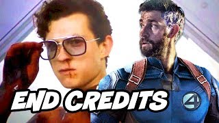 Spider-Man Far From Home End Credit Scene - Fantastic Four Easter Eggs Breakdown
