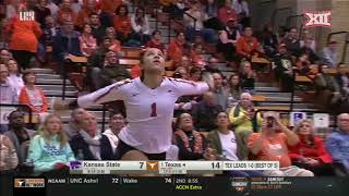 Kansas State at Texas Volleyball Highlights