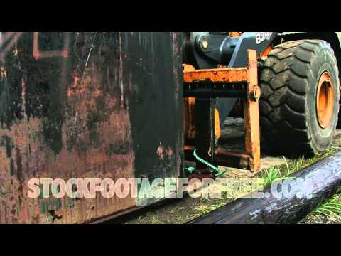 Free Construction Stock Footage  Fork Lift Moving Heavy Container   YouTube