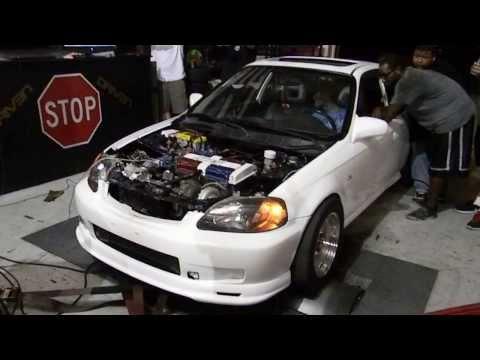 B series Turbo EK Civic Dyno 600hp