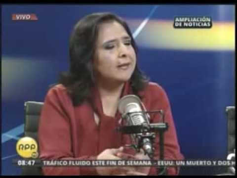 Entrevista a la ministra de la Mujer, Ana Jara, en RPP NOTICIAS - Fuente Canal 10 - Movistar Tv