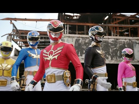 Power Rangers Megaforce - Mega Mission - Power Rangers vs Scaraba (First Battle)