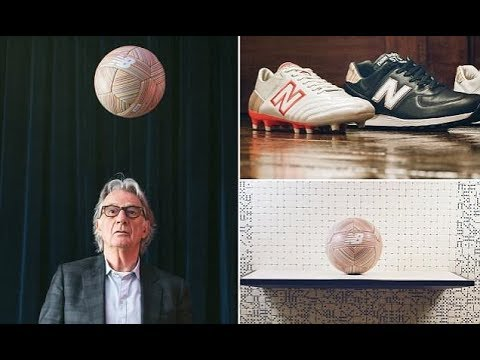 Fashion designer Paul Smith teams up with New Balance to produce unique boot and balls