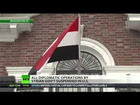 US tells Syrian embassy to cease operations