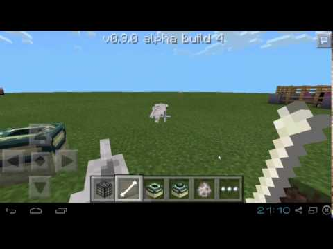 Minecraft PE 0.9.0 Build 4 - Bloques de Portal del End en Creativo