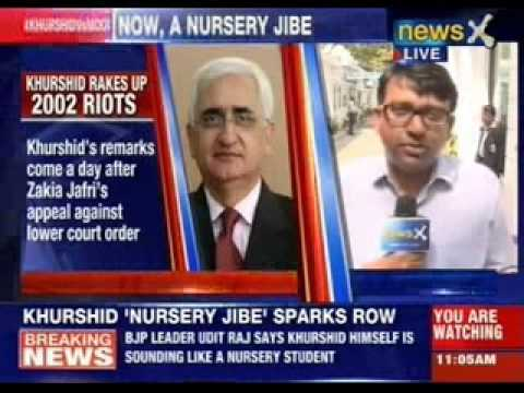 BJP hits out at Salman Khurshid for his nursery remark on Narendra...