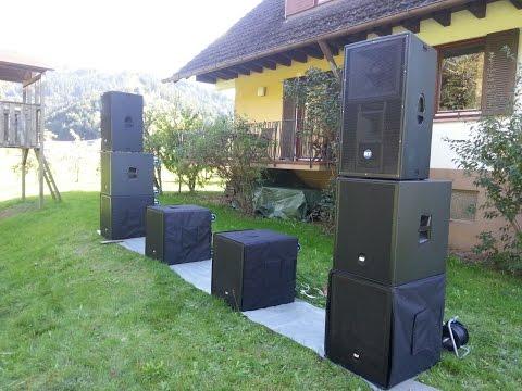 Soundcheck RCF 4PRO 8003-AS + 4PRO 6001-A