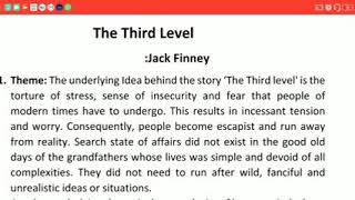 English,Class12,Book Vistas,The third level,Video 5/5