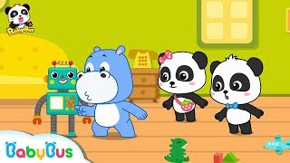 Play with Amazing Intelligent Robot   Dance Along with Baby Panda   Dancing Remix   BabyBus