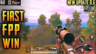 FIRST TIME PLAYING FPP IN PUBGM | FUNNY GAME ENDING | PUBG MOBILE GLOBAL UPDATE 0.6.0