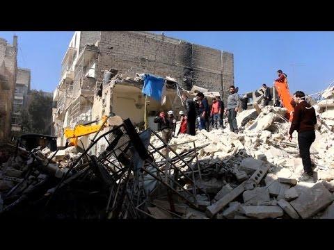 'Seven civilians killed in airstrike on Aleppo'