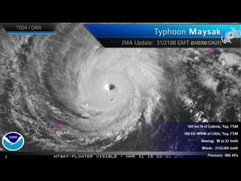 Typhoon Maysak   Chedeng Recap Impact in Micronesia and Philippines