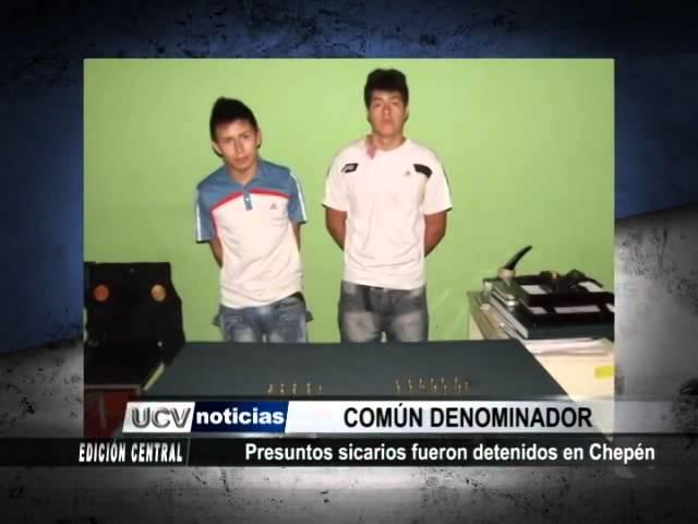 Presuntos sicarios fueron detenidos en Chepén
