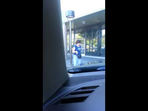 Miley Cyrus look alike twerking in parking lot