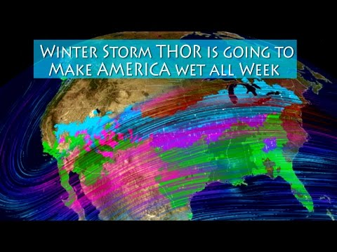 Winter Storm THOR is going to make the USA wet all week coast to coast